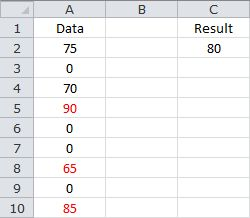 Averaging the Last 3 Non-Zero Values